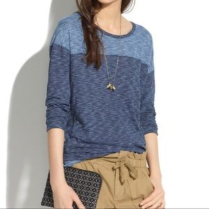 Madewell Striped Indigo Ink Tee Shirt